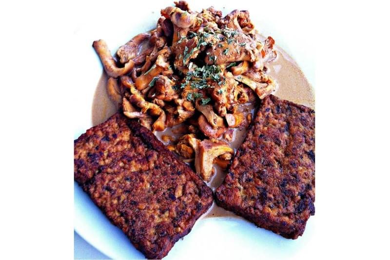 Vegane Pilzpfanne Rezept Pilzragout mit Pfifferlingen und Tofu