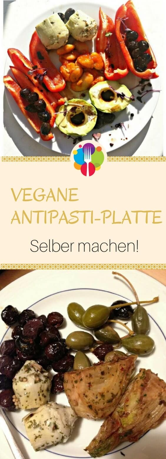 veganes antipasti selber machen bunte antipasti platte. Black Bedroom Furniture Sets. Home Design Ideas