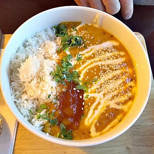 Orangebox Curry mit Reis