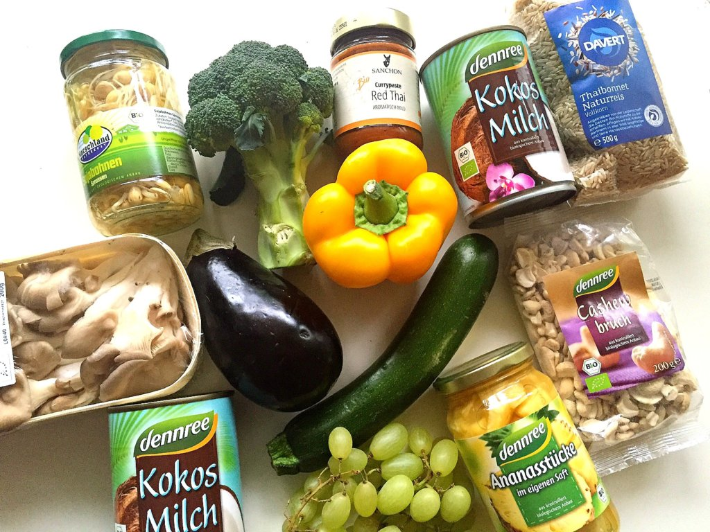 Veganes Curry Zutaten Rezept