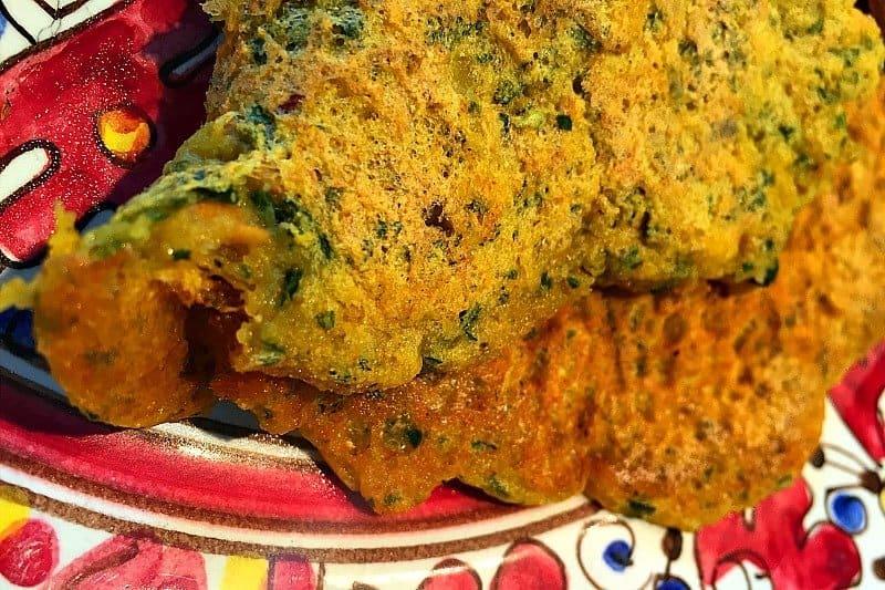 Veganes Frühstück Omelette Kichererbsen