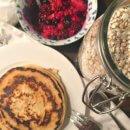 Vegane Pfannkuchen ohne Ei leckeres Frühstück