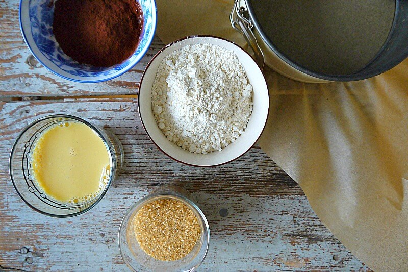 Veganer Schokokuchen Valentinstag Kuchen