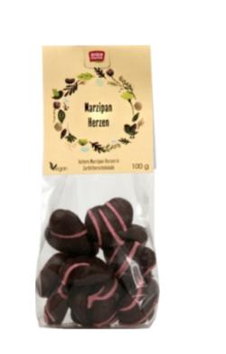 Vegan einkaufen Ostern Marzipanherzen