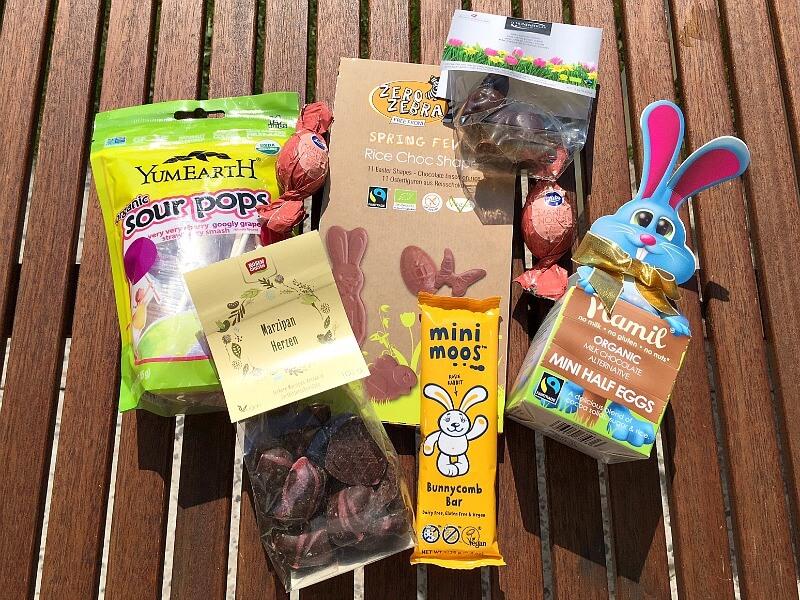 Vegane Süßigkeiten im Osternest