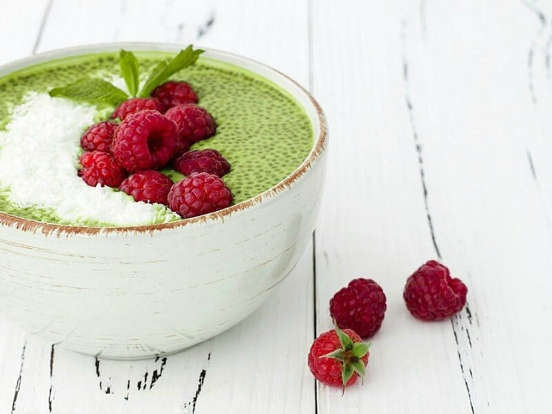 Matcha Chia Pudding vegan