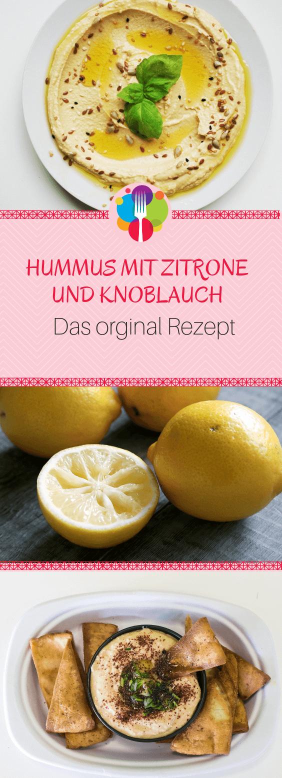 Hummus mit Knoblauch und Zitrone