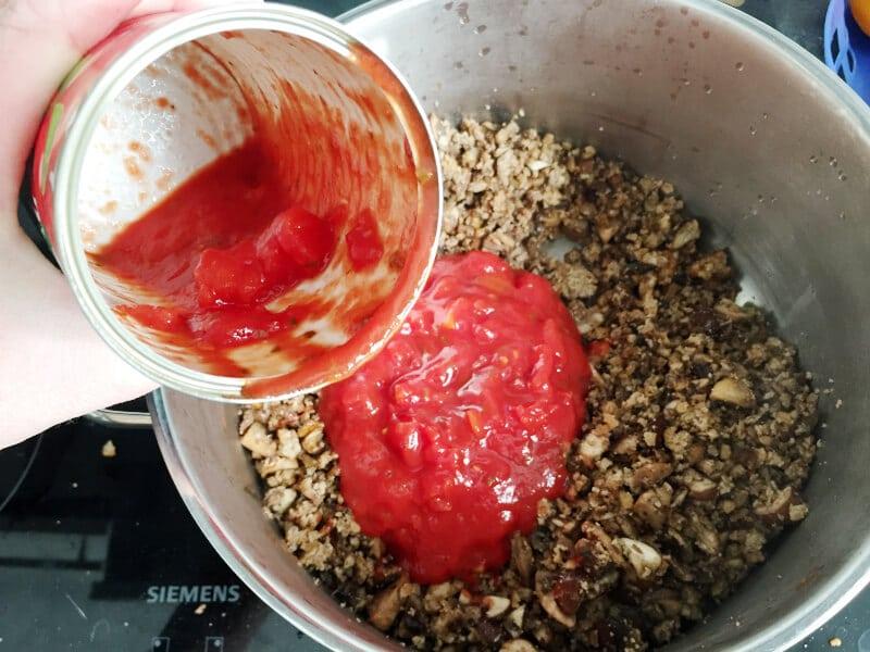 Soja pilz lasagne