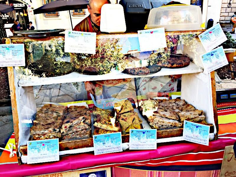 Marktstand Florenz veganes Gebaeck