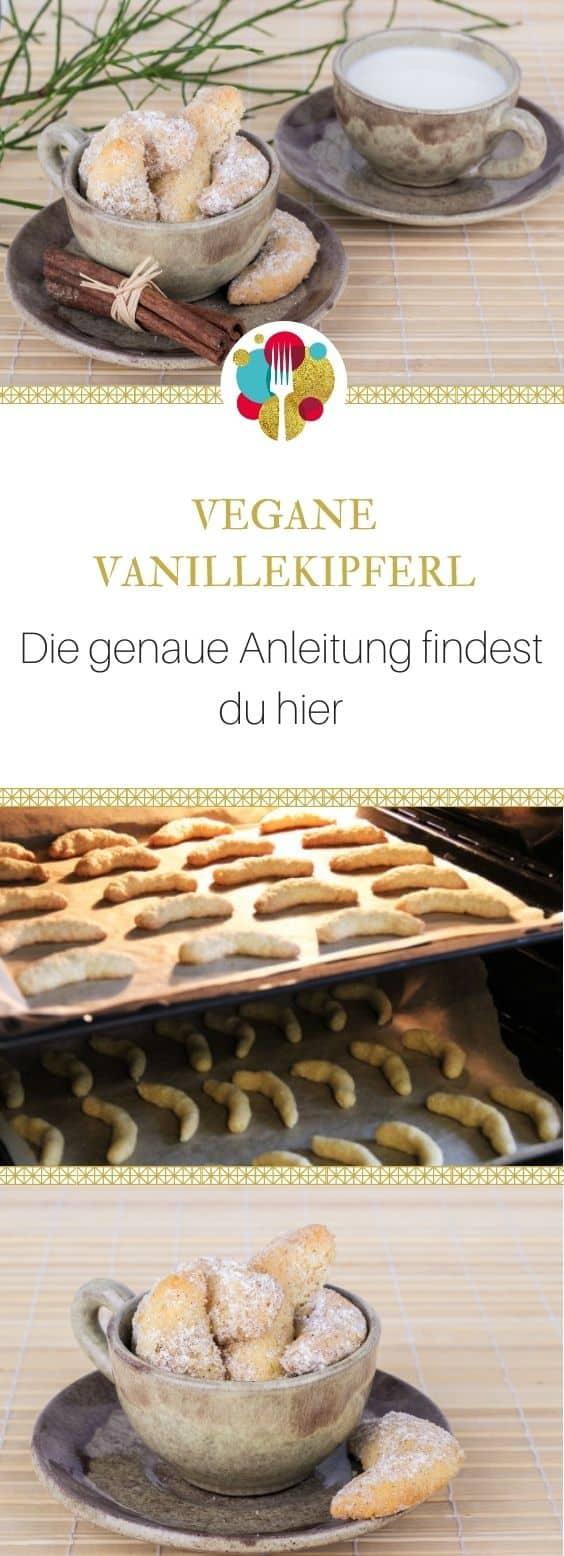 Vegane Vanillekipferl Rezept - weihnachtliche Plätzchen I Entdeckt von Vegalife Rocks: www.vegaliferocks.de✨ I Vleischlos glücklich, fit & Gesund✨ I Follow me for more inspiration @vegaliferocks